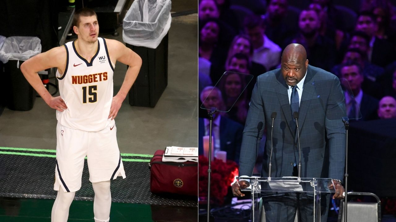 """""""Shaq just had to show off his Serbian to Nikola Jokic"""": Shaquille O'Neal stutters while trying to speak Serbian to the Nuggets MVP after win vs Blazers"""