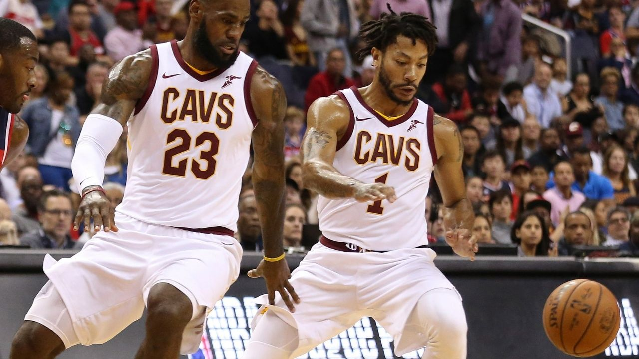 """""""I was spying on LeBron James"""": Derrick Rose admits to having watched the Lakers star closely in their stint together on the Cavaliers"""
