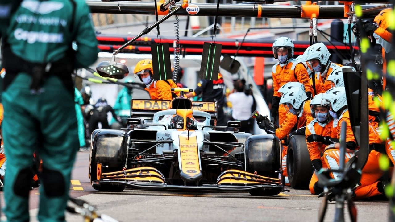 """""""I got pretty worried""""– Lando Norris on thought of losing podium with first pitstop"""