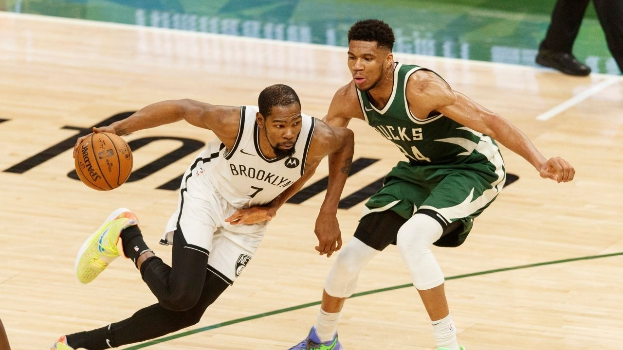 """""""LeBron James, your turn tonight"""": Skip Bayless lauds Giannis Antetokounmpo and Kevin Durant for their excellent Bucks vs Nets duel"""