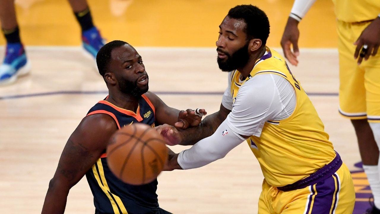 """""""Kareem Abdul-Drummond doesn't work for the Lakers"""": Skip Bayless criticizes Laker big man Andre Drummond following a poor performance against Stephen Curry and his Warriors"""