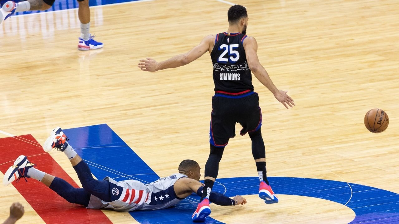 """""""Russell Westbrook, you're too small"""": Ben Simmons taunts Wizards star after making light work of him from the post in Game 3 win"""