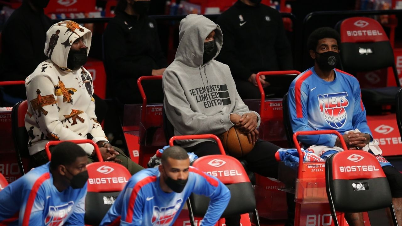 """""""Kevin Durant, James Harden and Kyrie Irving can fill it up with the best of them"""": Draymond Green wary of the Brooklyn Nets' title challenge for LeBron James and co this year"""