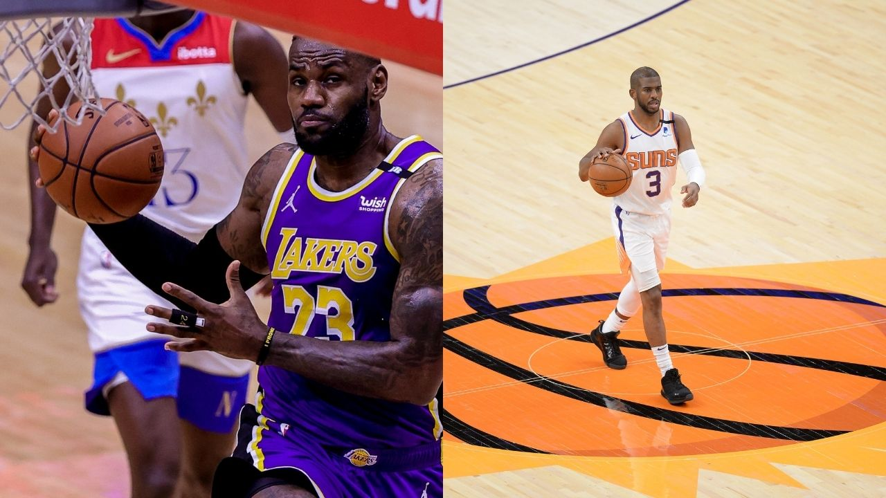 """""""Chris Paul is a fierce competitor"""": LeBron James gives Suns superstar his flowers ahead of the Lakers Playoff matchup against Devin Booker and co"""