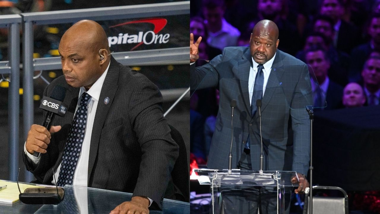 """""""I'll knock your face off"""": Shaq hilariously threatens Charles Barkley on NBAonTNT after having his grandmother compared to Robin Lopez in Celtics win over Wizards"""