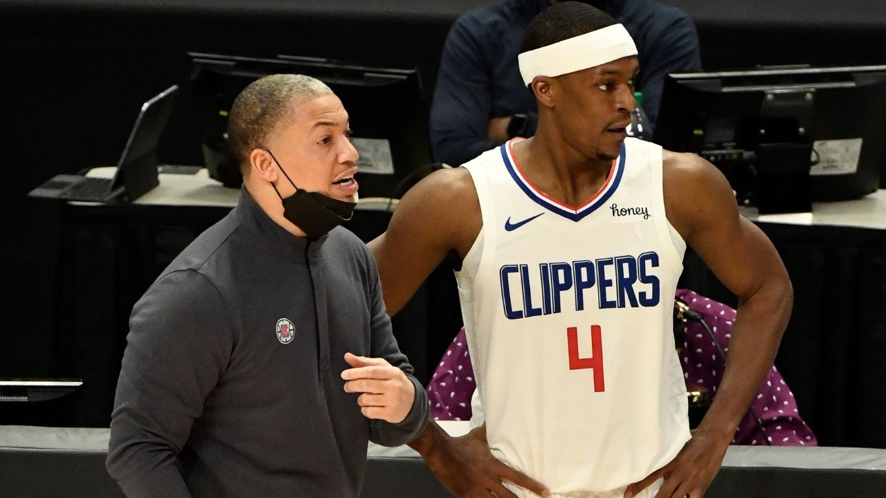 """Rajon Rondo praises Kawhi Leonard, Tyronn Lue in TNT postgame presser after blowing Anthony Davis and his Laker out: """"We got championship DNA"""""""