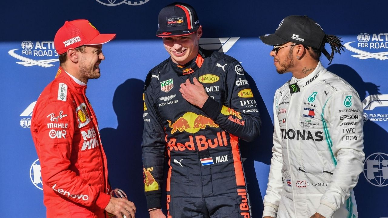 """""""I don't see why you're so excited to wait for a crash"""" - Sebastian Vettel unimpressed with excitement to see Lewis Hamilton and Max Verstappen crash"""