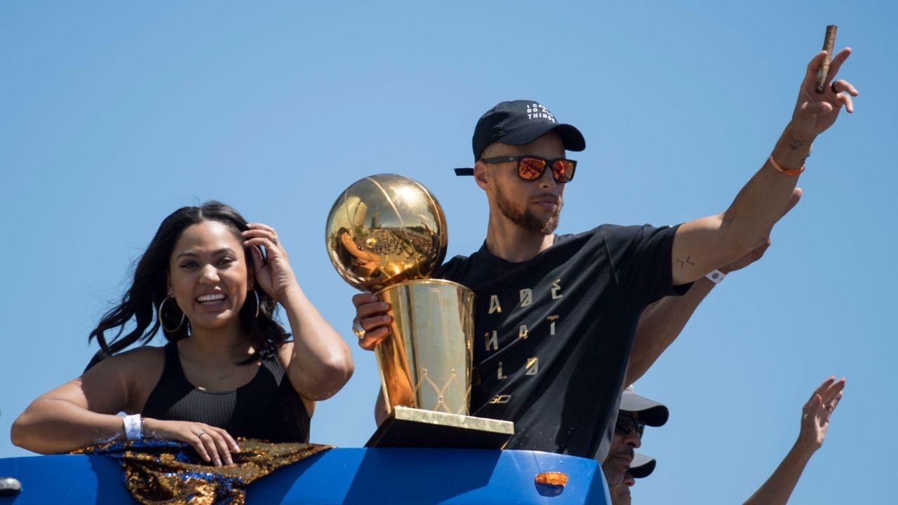 """""""Steph Curry comes home and just wants some popcorn"""": Ayesha Curry gushes about the Warriors legend's humility despite breaking record after record this year"""