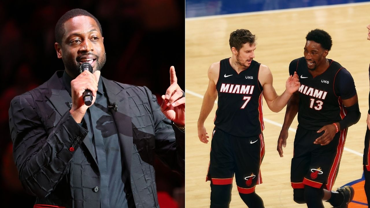 """""""Dwyane Wade doesn't return my texts for days"""": Bam Adebayo hilariously accuses the Heat legend of ghosting him over the past few weeks"""