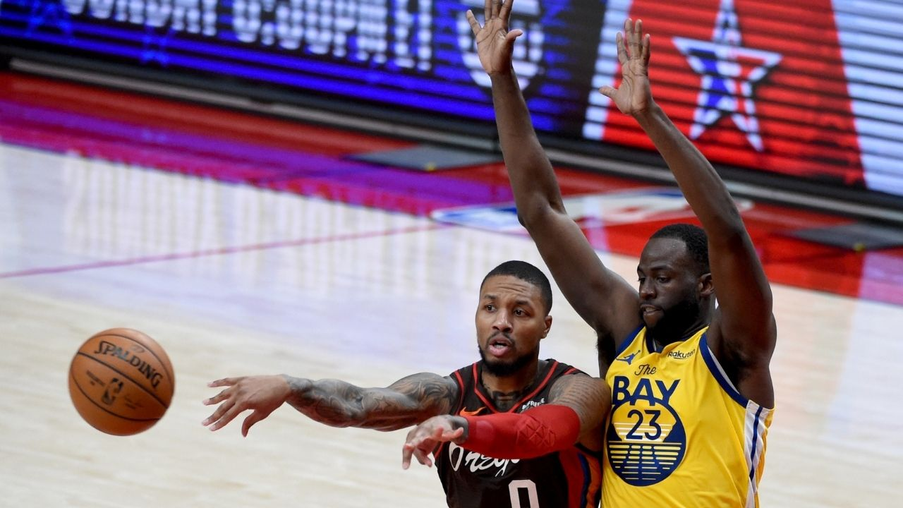 """""""Damian Lillard is trying to recruit Draymond Green"""": Blazers star retweets post about the Warriors star going to the Blazers after their play in loss vs Grizzlies"""