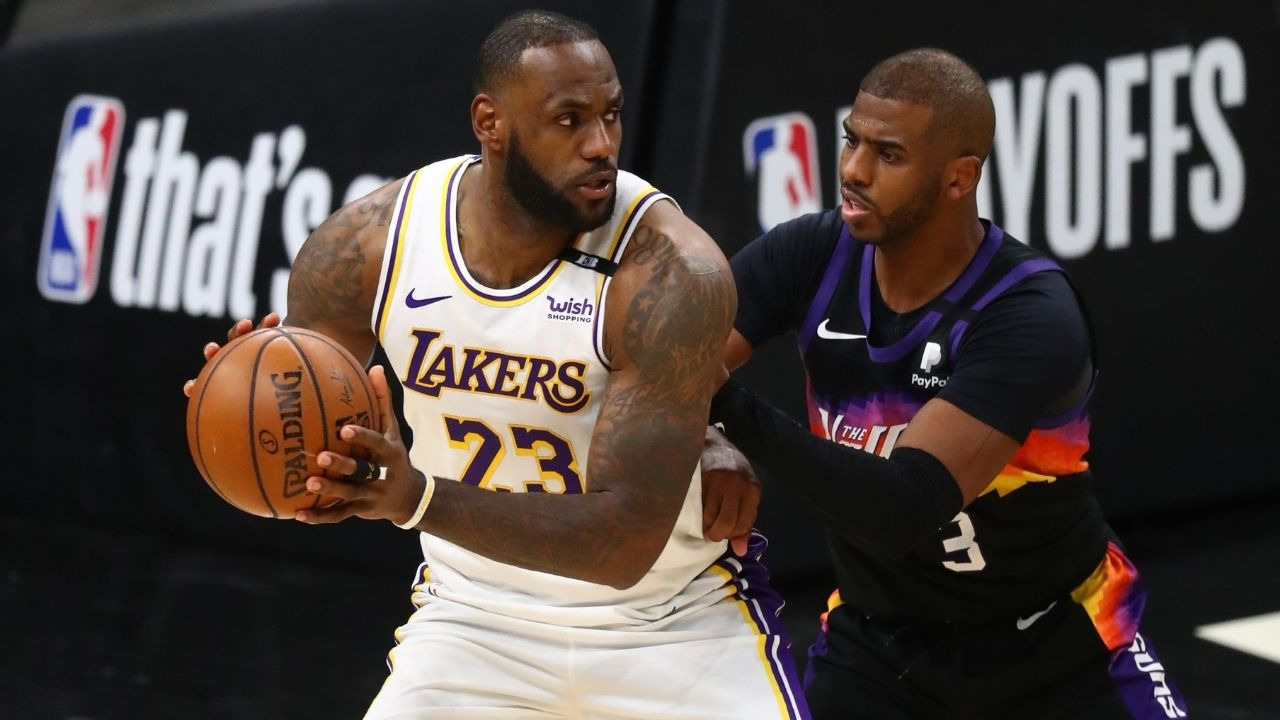 """""""Didn't foul LeBron James intentionally"""": Chris Paul refutes Lakers head coach Frank Vogel's accusations of him playing dirty in the Suns' Game 1 win"""