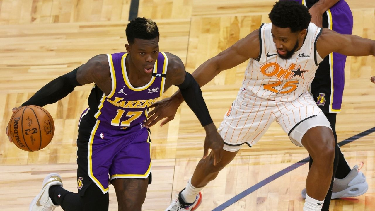 """""""No, I didn't test positive"""" Lakers star Dennis Schroder's confusing post game interview creates doubts over his availability in postseason"""