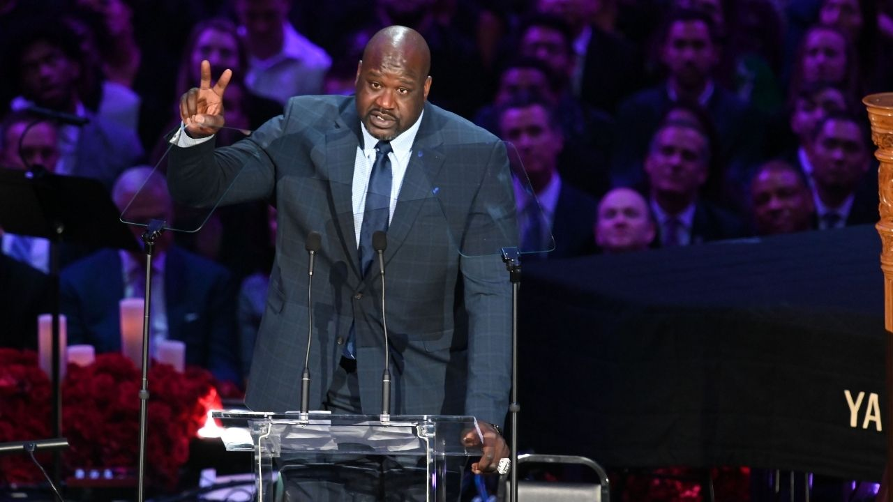 """""""Don't need to take the tag off when you manufacture your own suits"""": Shaquille O'Neal hilariously flexes his newest business venture on NBAonTNT"""