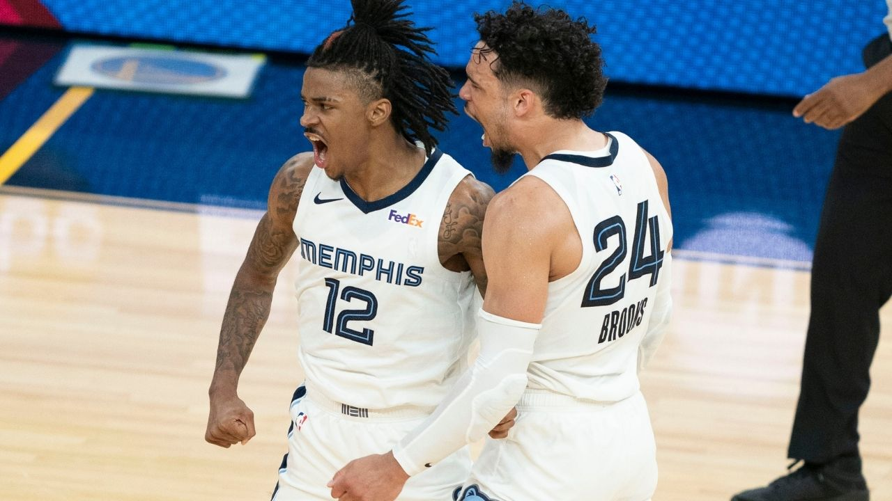 """""""Shoutout Monica!"""" Ja Morant and the Memphis Grizzlies troll ESPN writers for picking Steph Curry's Warriors in play in game"""