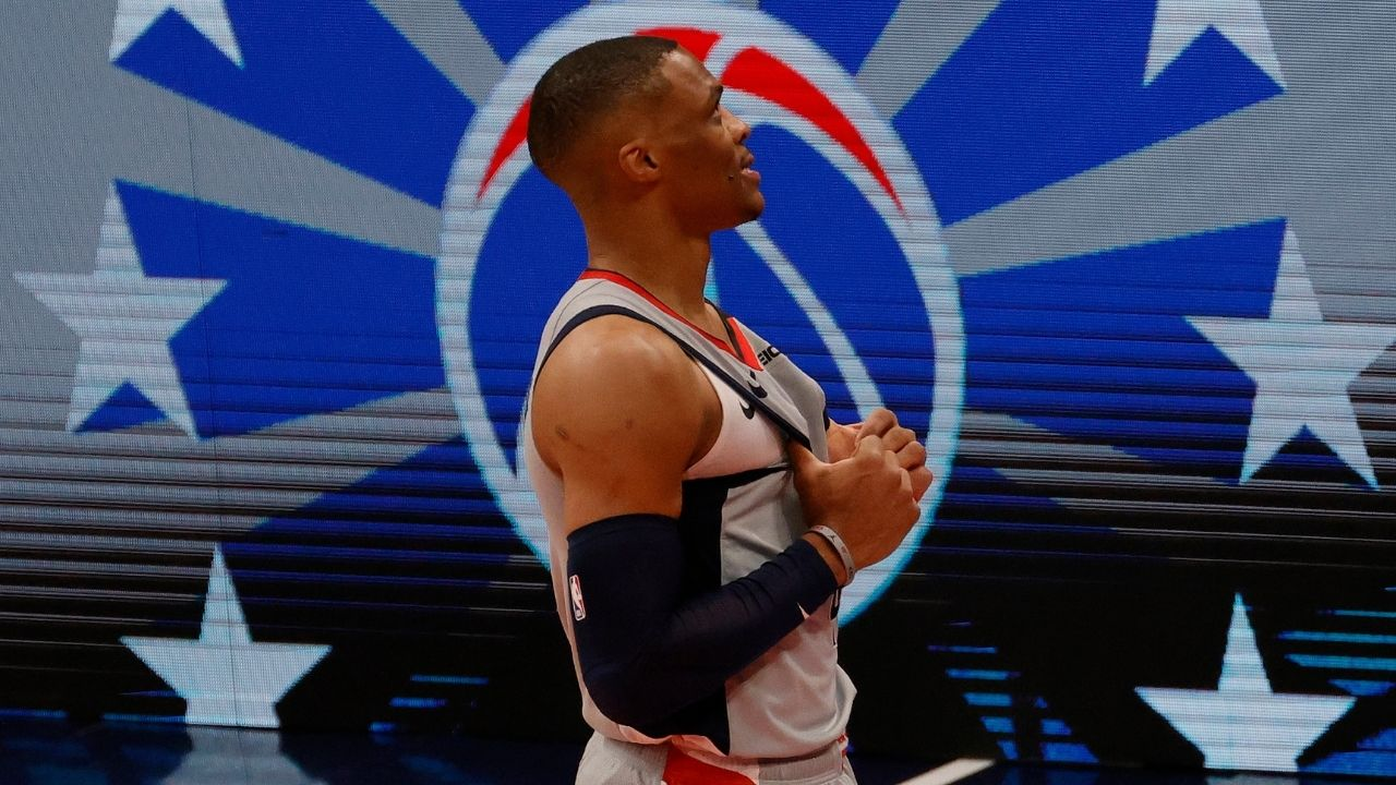 """""""Russell Westbrook is Mr. Triple-Double"""": Wizards star joins Oscar Robertson as 2nd player in NBA history to record 200+ rebounds and 200+ assists in a month"""