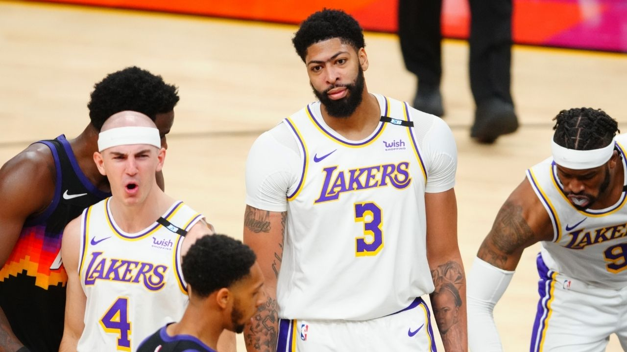 """""""I knew Anthony Davis had to be more aggressive, but that kick was uncalled for!"""": Skip Bayless thinks the Lakers' big committed the Flagrant foul on purpose"""
