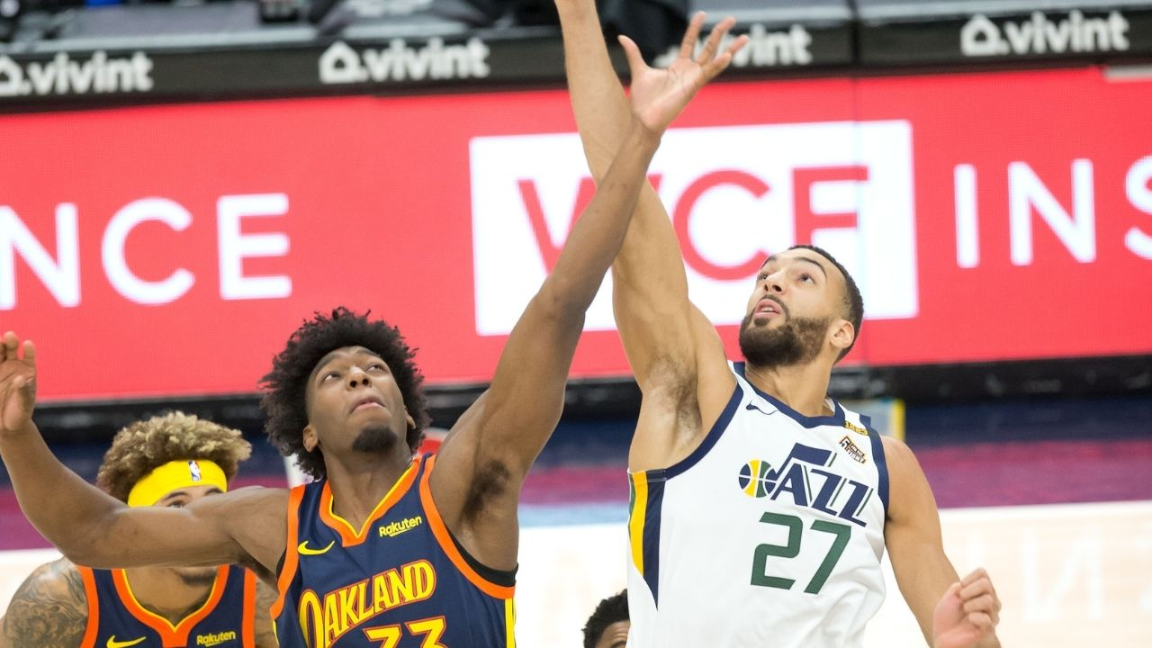 The Golden State Warriors look to Rudy Gobert as a model for James Wiseman and his future and development