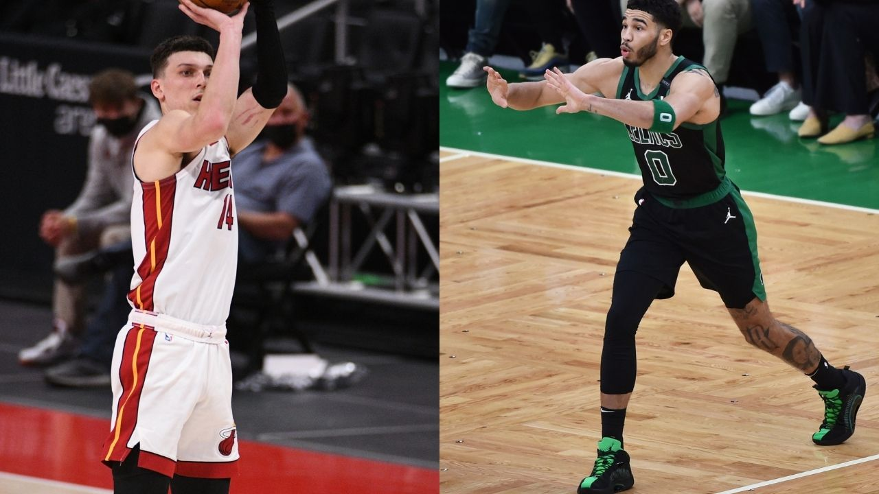 """""""Jayson Tatum was right about Tyler Herro being a 'Bubble fraud': Fans react to Heat star's abysmal Playoff stats against Giannis and the Bucks following a series sweep"""