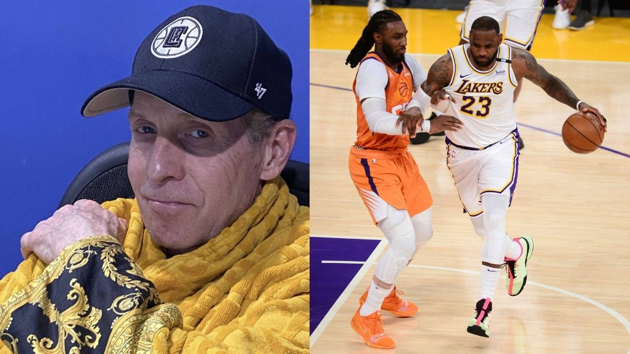 """""""I reverse jinxed LeBron James and his Lakers"""": Skip Bayless claims to have jinxed the Lakers by wearing his Versace robe"""