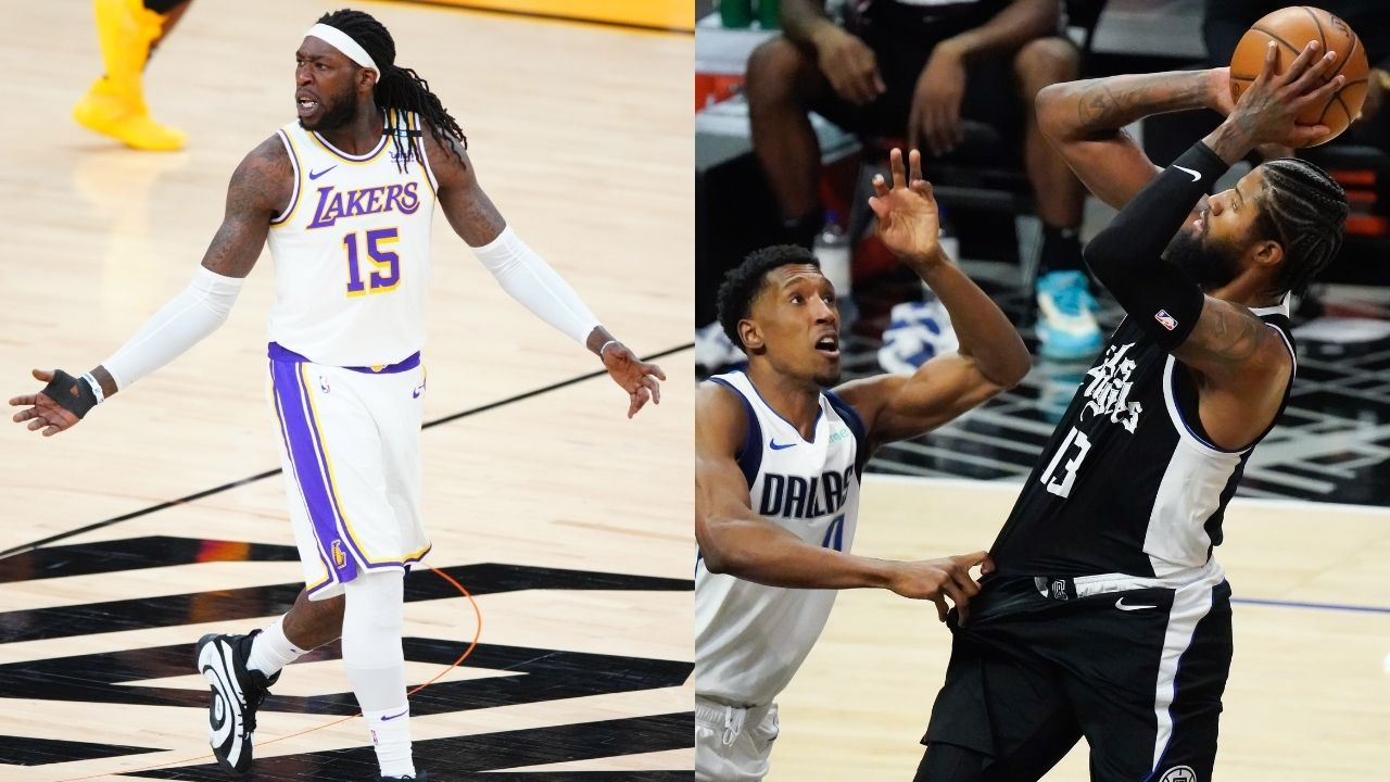 """""""They said Montrezl Harrell was the problem with the Clippers"""": Lakers big man throws shade at Paul George and co following their embarrassing loss to Luka Doncic and the Mavericks in Game 2"""