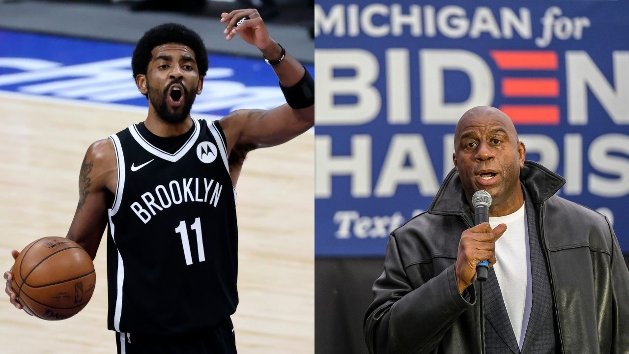 """""""Kyrie Irving is a video game"""": Magic Johnson and Isiah Thomas commend Nets guard for leading his team during James Harden's absence"""