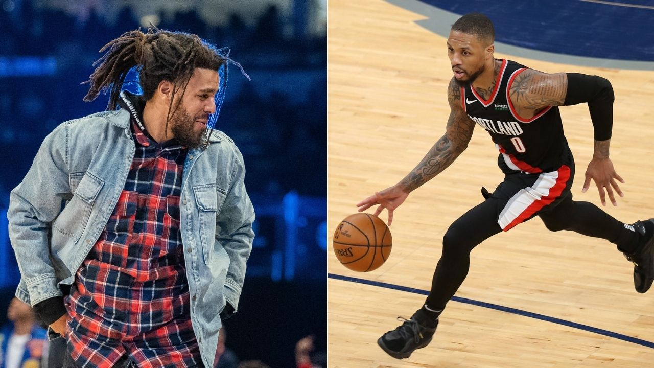 """""""J Cole featured Damian Lillard on his latest platinum"""": Grammy winner sampled an interview by the Blazers star in a song on 'The Off-Season'"""