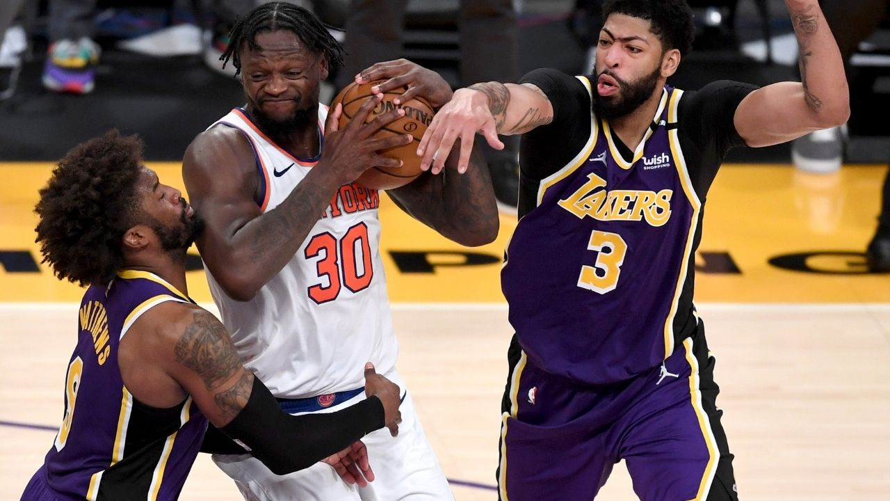 """""""Julius Randle has been playing his a** off"""": Anthony Davis gives Knicks superstar his flowers following Lakers win without LeBron James"""