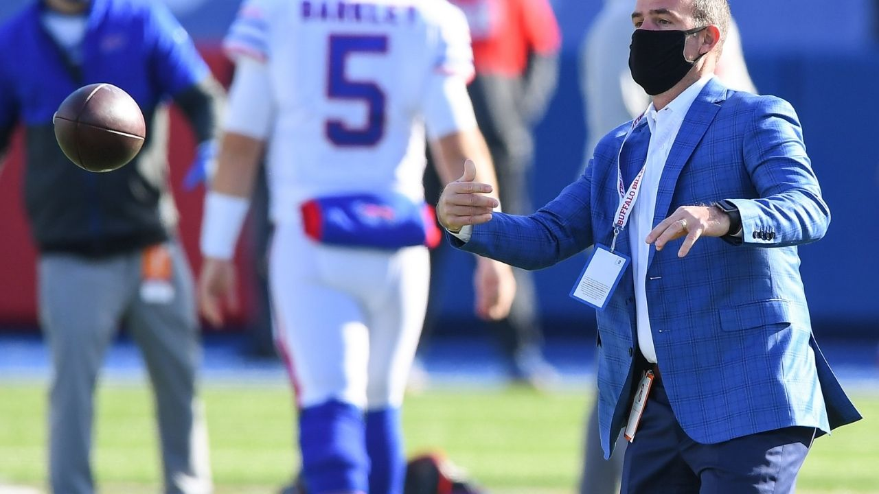 """""""""""Yeah. I would. Because it'd be an advantage,"""" Bills GM Brandon Beane says he will consider vaccination status when making roster moves."""
