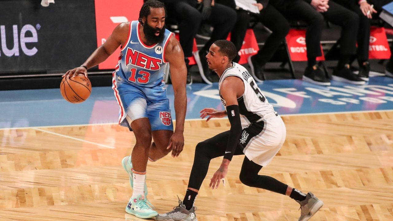 """""""I'm really, really good at basketball"""": James Harden flexes post-game after his stellar play alongside Kevin Durant in his return from injury against the Spurs"""
