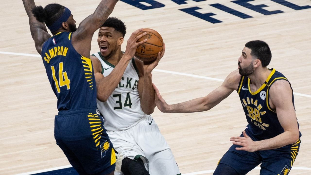 """""""I almost pooped"""": Giannis Antetokounmpo hilariously trolls himself on Instagram after dropping 40 points in a Bucks win against the Pacers"""