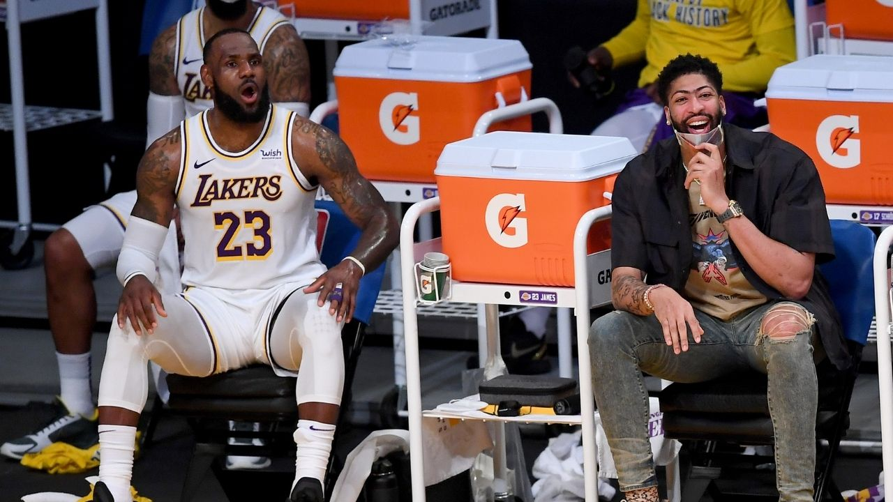 """""""Saw LeBron James today, he'll be fine"""": Anthony Davis reassures Lakers fans of their commitment to defending their NBA championship"""