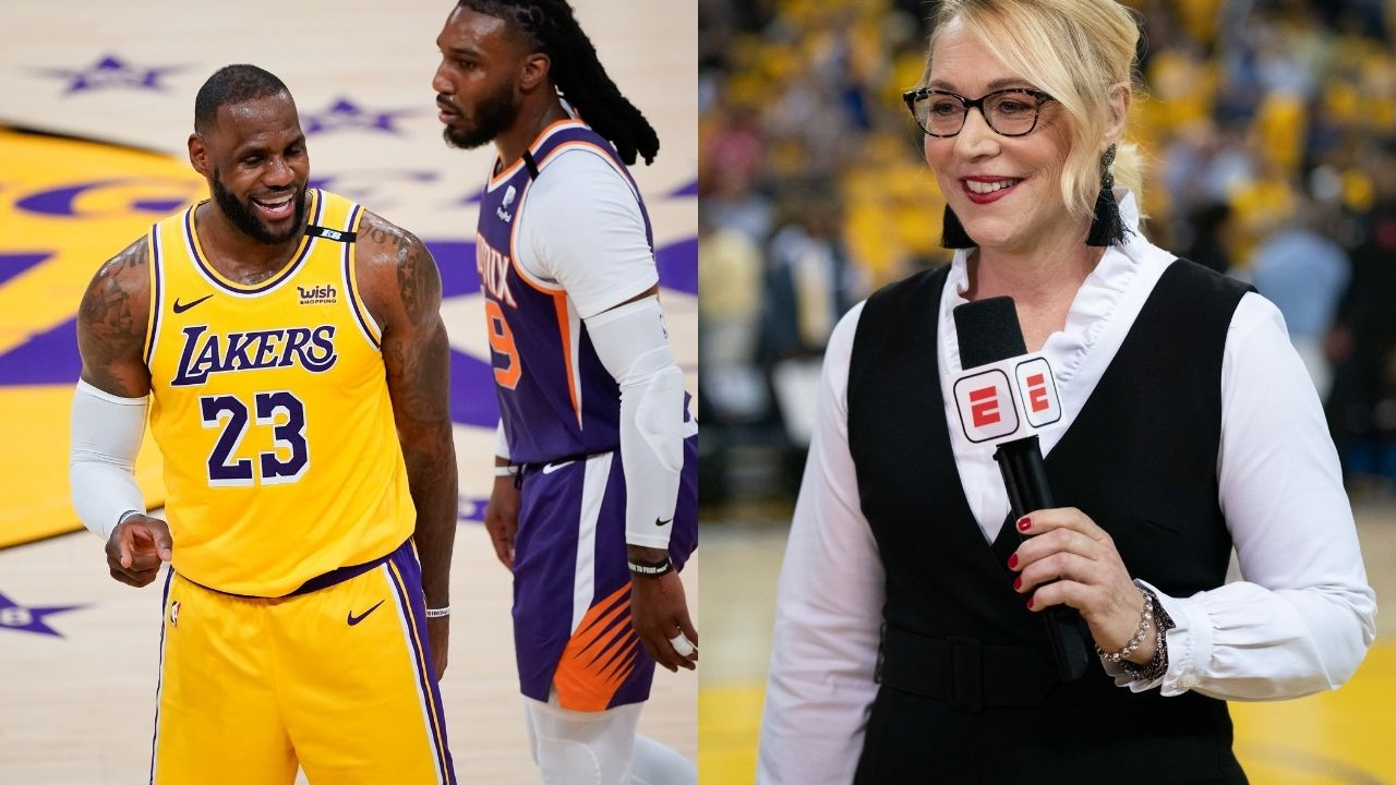 """""""LeBron James may be the greatest player of all time"""": Doris Burke hilariously backs up talking about the Lakers MVP by giving him the edge over Michael Jordan"""