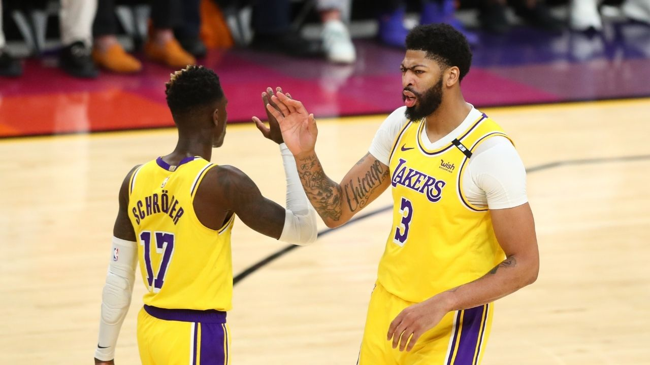 """""""That's a dirty play!"""": Anthony Davis calls out Devin Booker as the Suns' star shoves Dennis Schroder in the final minutes of Game 3"""