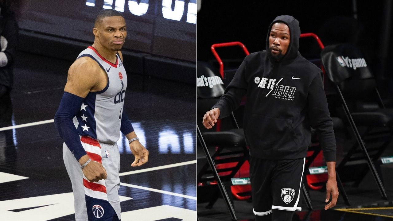 """""""It's all fun and games until ya a** banned for life"""": Kevin Durant reacts to Sixers fan's lifetime ban after throwing popcorn at Russell Westbrook"""