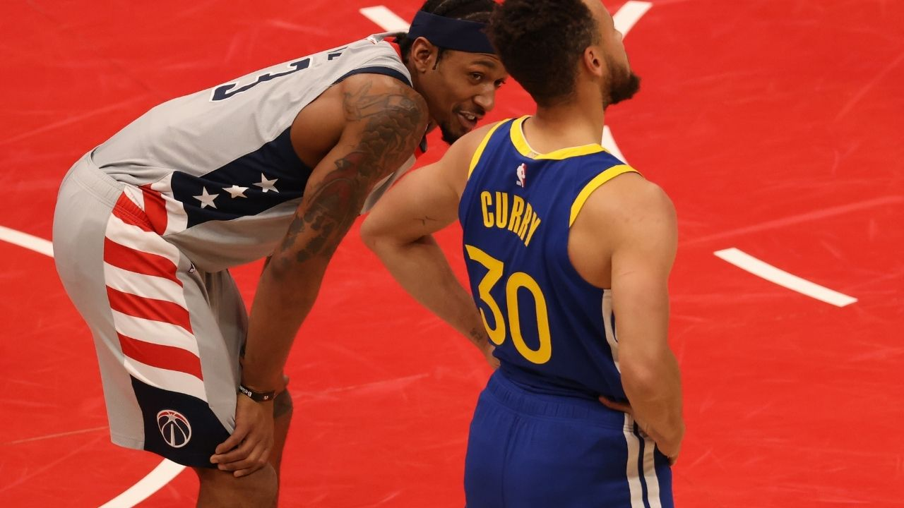"""""""Steph Curry checked my numbers so he's the one chasing me!"""": Bradley Beal goes off on Kent Bazemore for his insensitive comment on Wizards star's hamstring injury"""