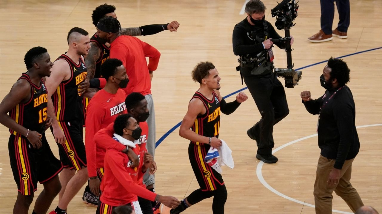 """""""I wanted to hear F*** Trae Young chants again"""": Hawks star's hilarious post-game interview after his game winner vs Knicks"""