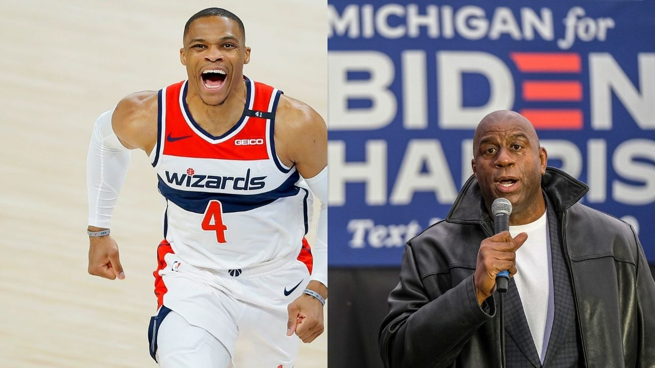 """""""Russell Westbrook is no way close to being as impactful as Magic Johnson"""": Shannon Sharpe scoffs at the idea of comparing Lakers legend to Wizards star amidst torrid triple double run"""