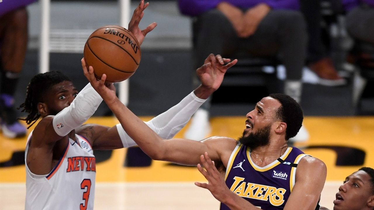 """""""Talen Horton-Tucker wants to be great in this league"""": Anthony Davis gives huge props to the Lakers shooting guard after his game-winning performance against Julius Randle and the Knicks"""