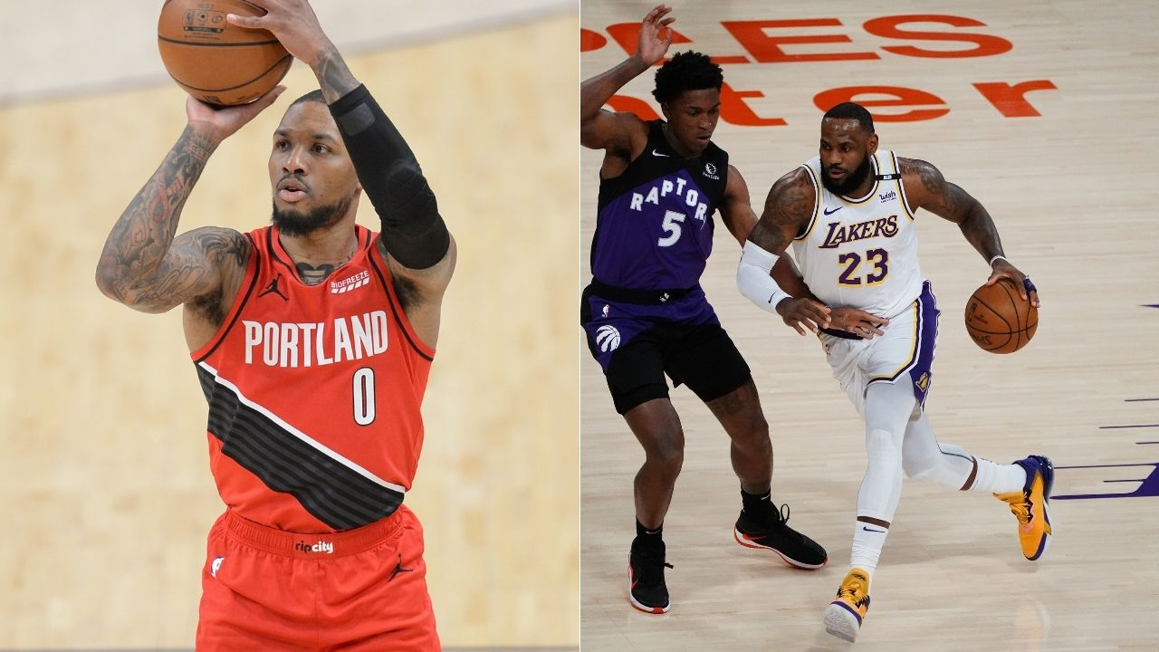 """""""Damian Lillard broke LeBron James's record"""": Blazers superstar is on pace to have more 20+ point 4th quarters than Laker legend Kobe Bryant"""