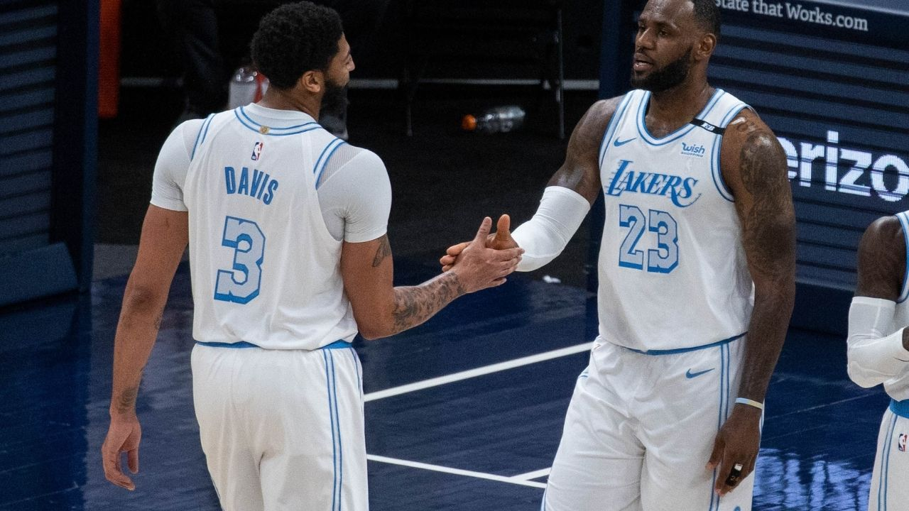 """""""The Lakers didn't play well against the Warriors and it carried over against the Suns"""": Magic Johnson blames loss to the Suns in Game 1 on LeBron James and Anthony Davis for being out of rhythm"""
