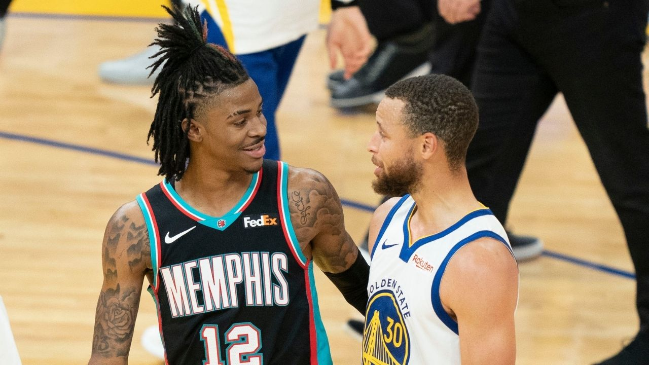 """""""Stephen Curry is the MVP, no debate"""": Ja Morant endorses Warriors superstar for his 3rd trophy after losing to his 46-point outburst"""