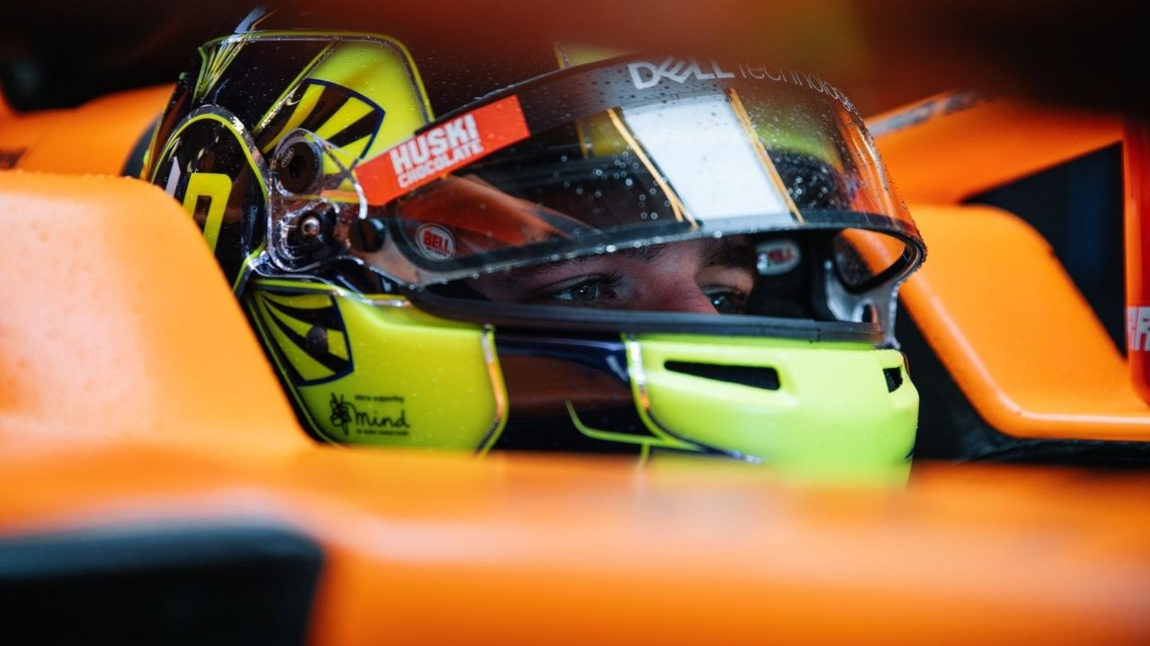 WATCH: Lando Norris delivers a #McLarenUnboxed message to Red Bull, via a paper plane!