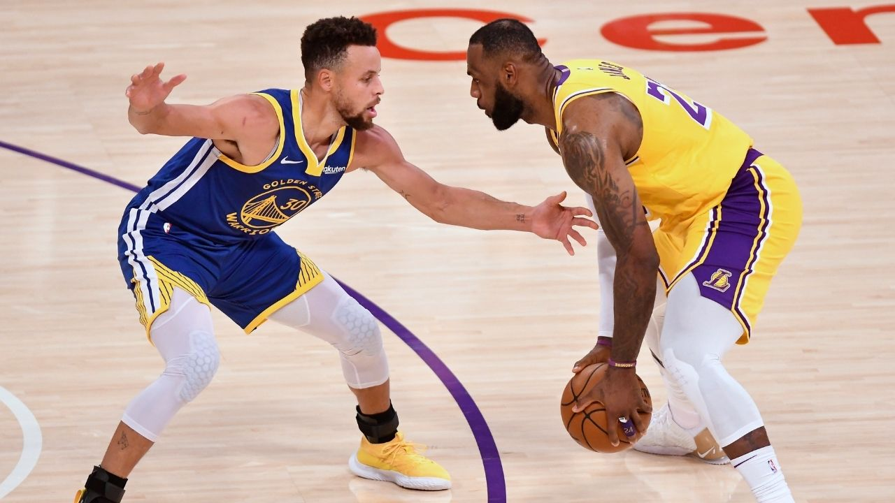 """""""I still have LeBron James' signed jersey in my parents' house in Charlotte"""": Stephen Curry applauds the four-time champions longevity"""