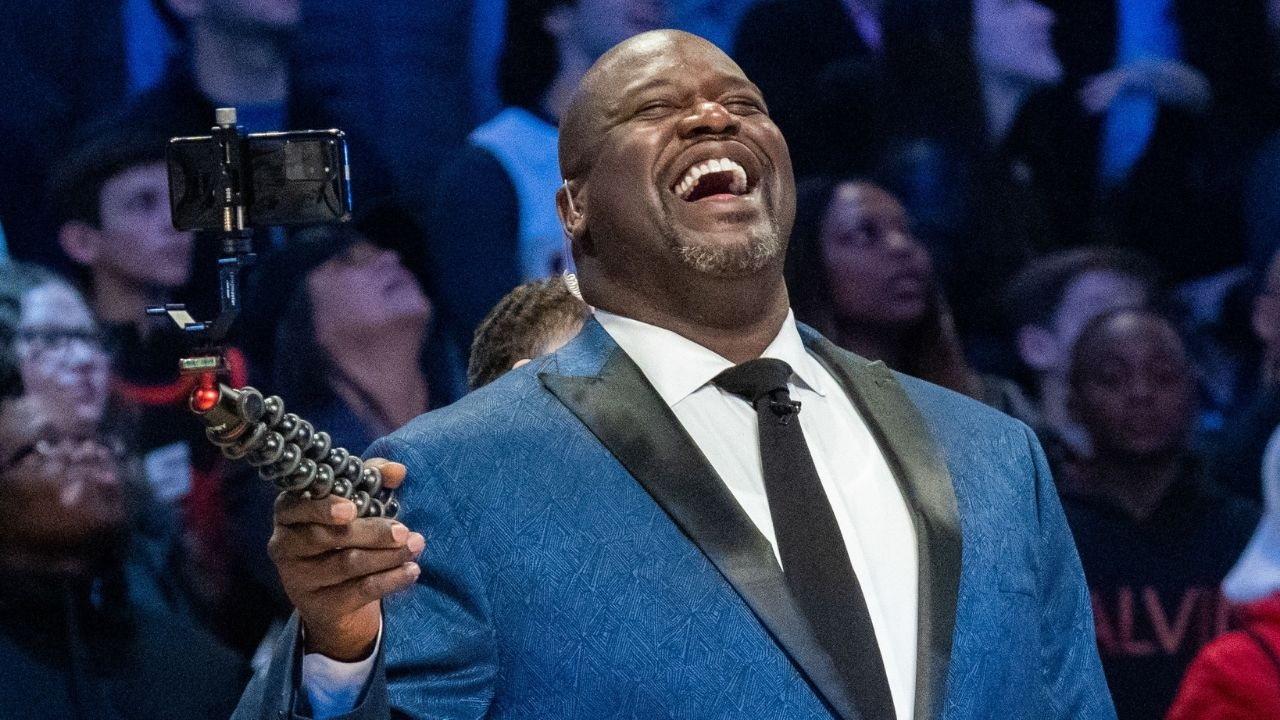 """""""Shaq, you can't sneak in on live TV at 7'2""""!!"""": Ernie Johnson and Inside the NBA crew roast Shaquille O'Neal for arriving late on TNT set"""