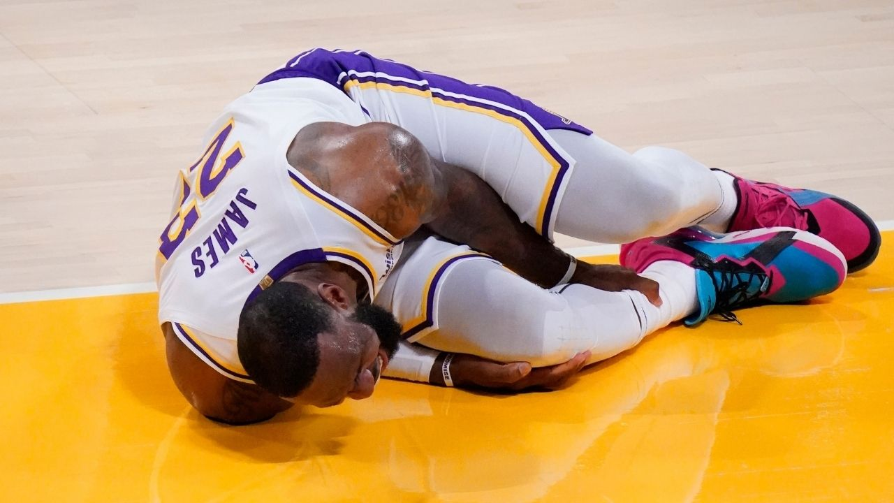 """""""LeAnkle James decided to stay late in a meaningless game"""": Skip Bayless hilariously blames LeBron James for injuring his own ankle in the Lakers win over the Pelicans"""