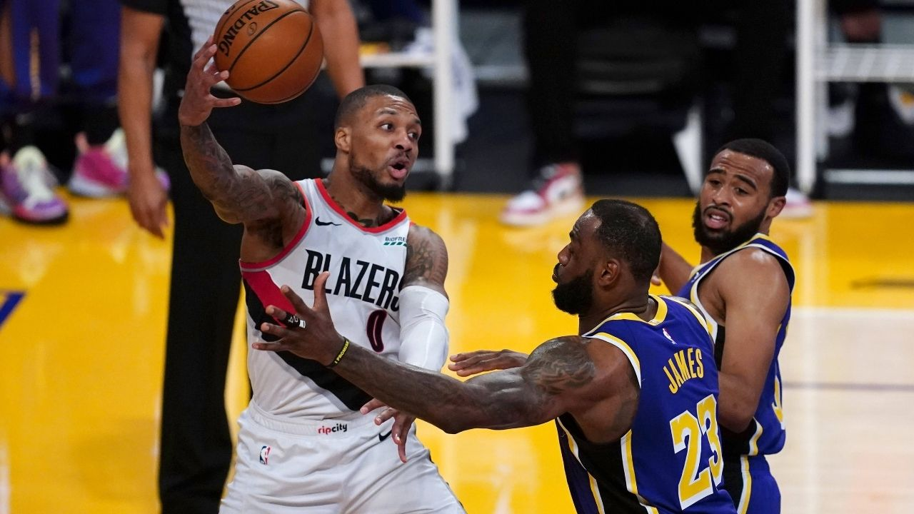 """""""Damian Lillard, Blazers are going to kill Anthony Davis and co"""": Charles Barkley predicts grim outcome for Lakers without LeBron James today"""