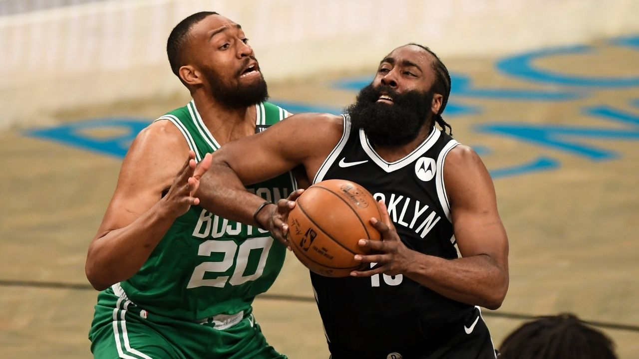 """""""Nets fans were loud, threw me off a little bit"""": James Harden explains why Blake Griffin and co couldn't score freely in the first half vs Celtics"""
