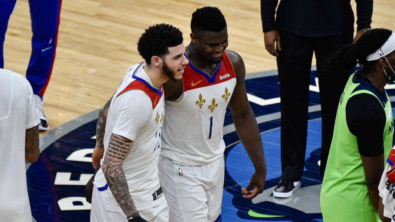"""""""I really want Lonzo Ball to come back"""": Zion Williamson hopes that the Pelicans point guard stays in New Orleans ahead of free agency"""