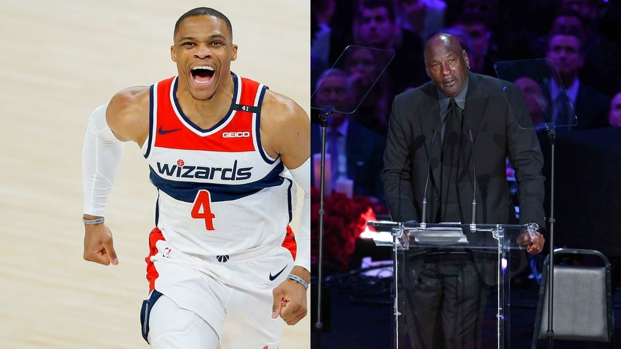 """""""Russell Westbrook was loyal to the Thunder, unlike others"""": Michael Jordan threw shade at Kevin Durant during Wizards MVP's Oklahoma City Hall-of-Fame induction"""