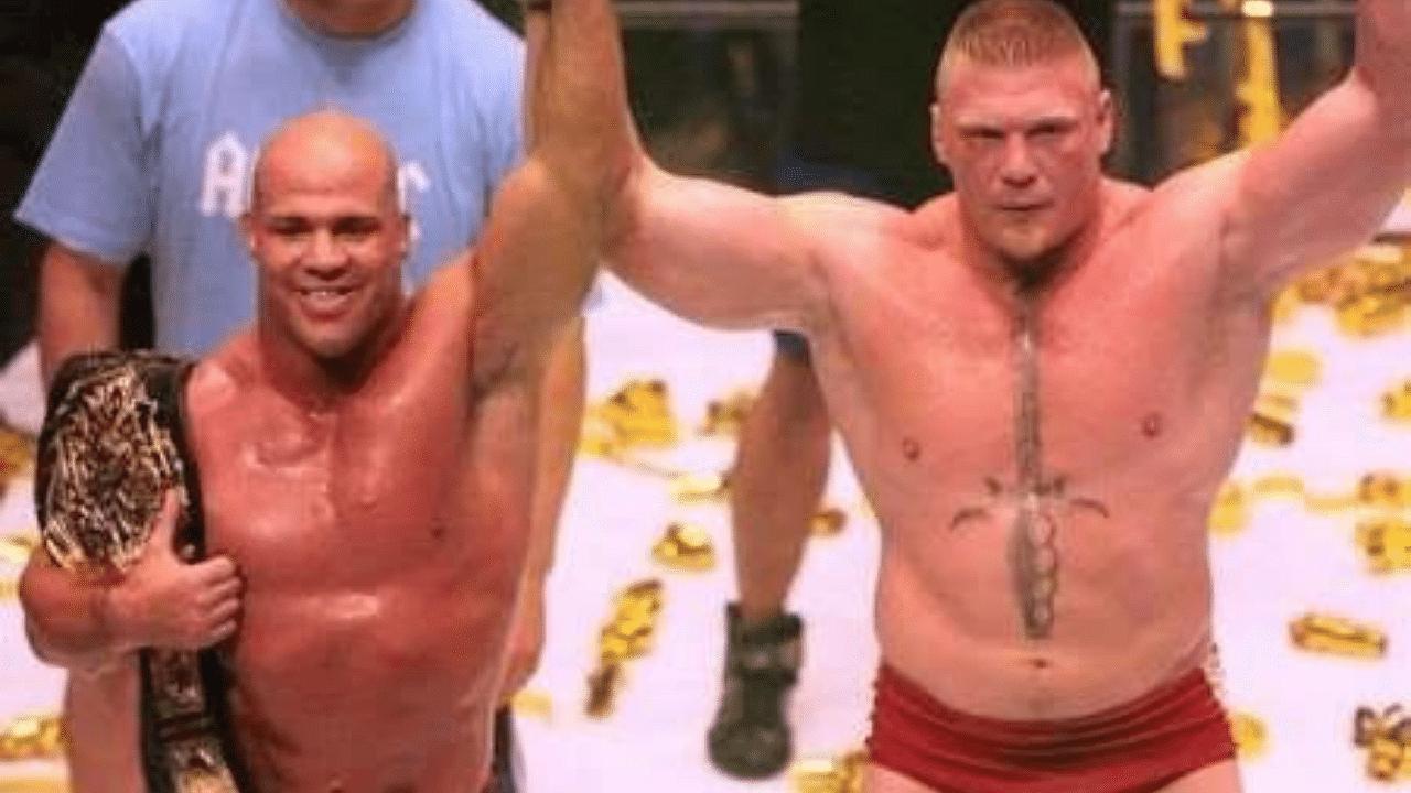 Kurt Angle says Brock Lesnar tried to setup a big money rematch in Japan